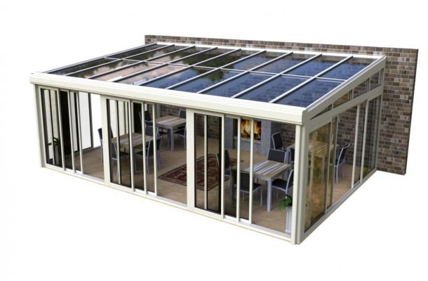 aluminiumstomme vinterträdgård pulpettak