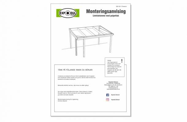 pulpettak monteringsanvisning ladda ned pdf