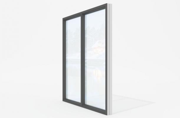 expo-wood95 fast-glasparti svart