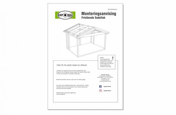 sadeltak monteringsanvisning ladda ned pdf